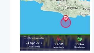 BNPB: Gempa Terjadi di Jabar, Jateng dan DIY