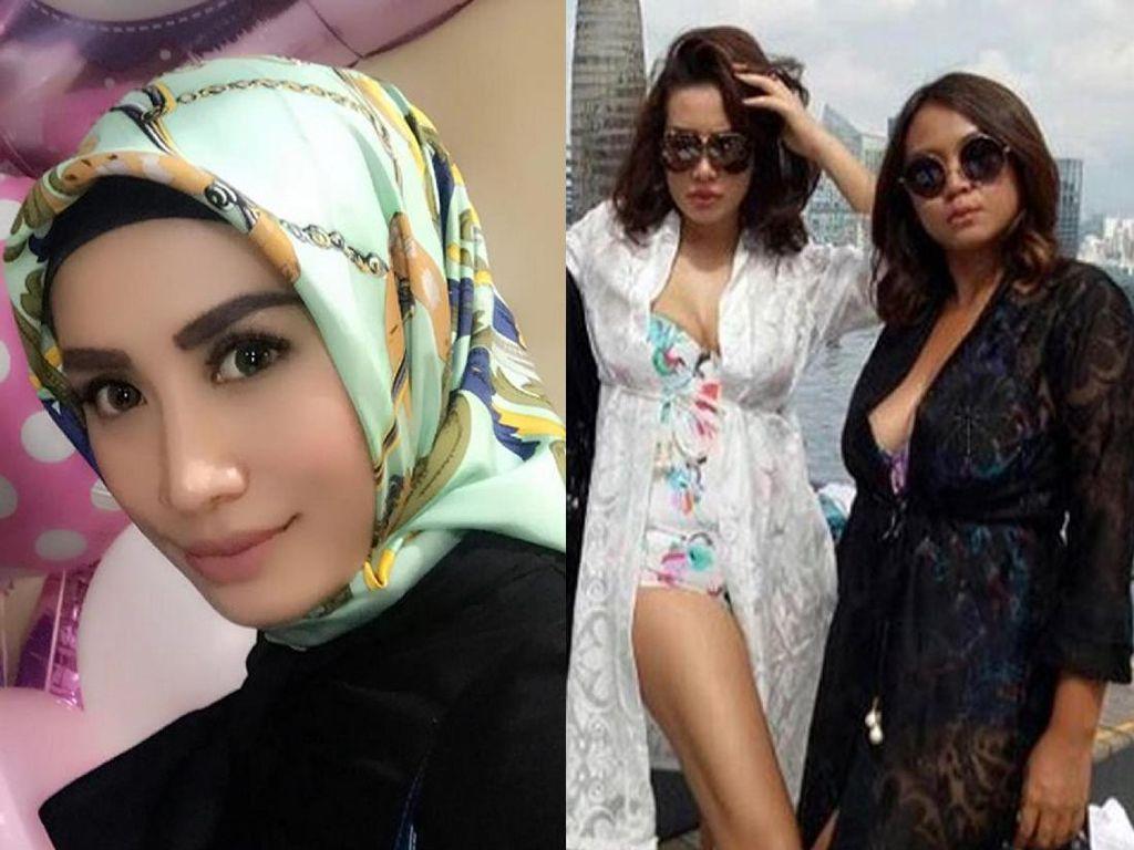 Ini adalah foto ketika Shinta masih plin-plan soal hijabnya. Foto: Dok. Instagram/shintabachir86_real