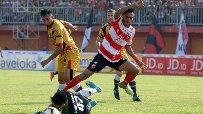 Penalti Gagal, Madura United vs Bhayangkara FC Masih Imbang