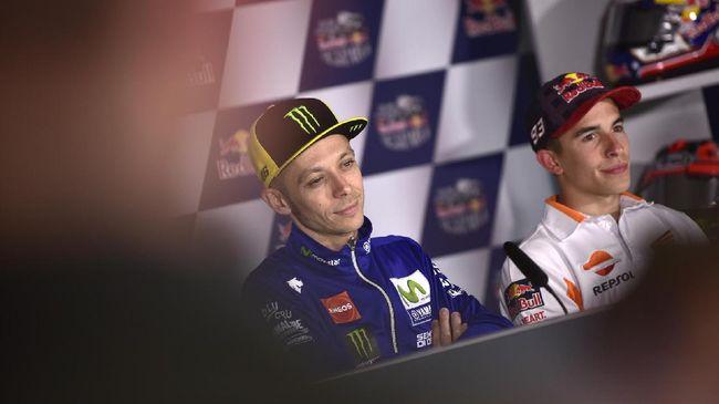Mata Marquez Tak Bisa Lepas dari Rossi Usai MotoGP Prancis