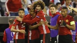 FOTO: Satu Kaki Manchester United di Final Liga Europa