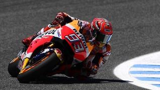 Marquez Jatuh Karena Ingin Kejar Rossi dan Vinales