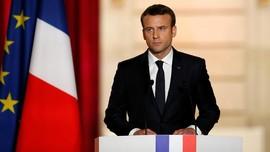 Tingkat Kepuasan pada Macron Menurun di Prancis