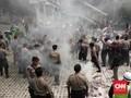 Ratusan Mahasiswa Bersitegang dengan Polisi di KPK