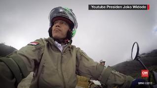 Vlog Petualangan Motor Trail Jokowi di Jalan Trans Papua
