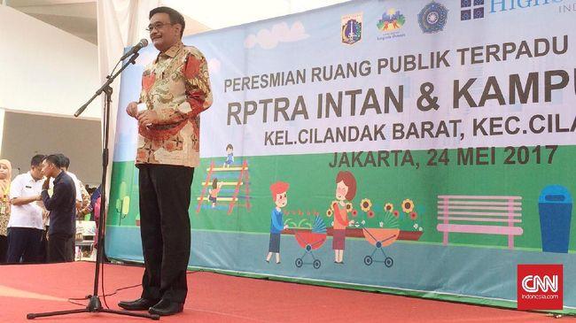 Djarot Belum Tahu Alasan Penghapusan Anggaran RPTRA
