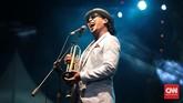 Selain dua legenda itu, hari ke-dua Bali Blues Festival juga dimeriahkan penampilan trumpeter Rio Sidik. (CNN Indonesia/Andry Novelino)