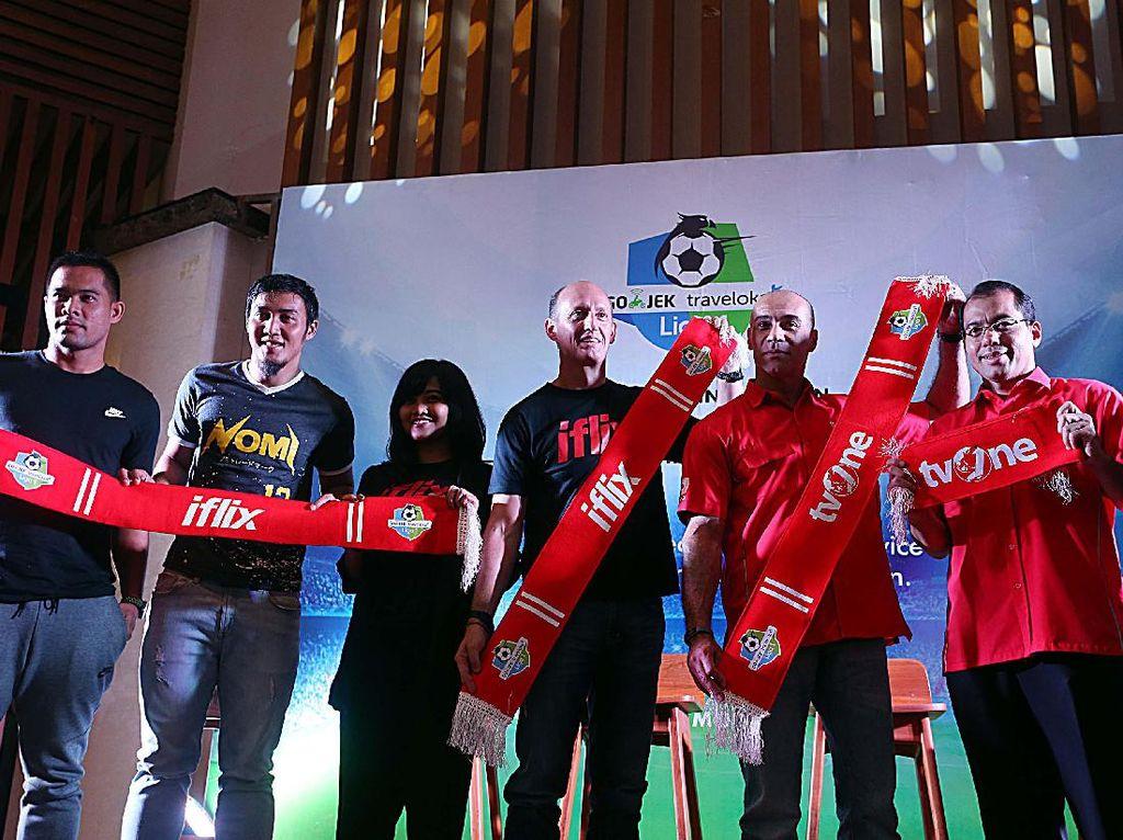 Semua itu berkat kerjasama layanan Subscription Video on Demand (SVoD)iFlix untuk menayangkan secara live streaming kompetisi sepakbola papan atas di Indonesia.
