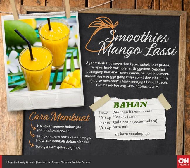 Resep Praktis Smoothies Mango Lassi