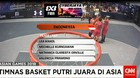 Timnas Basket Putri 3X3 Kalahkan Malaysia 13-6