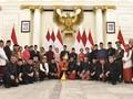 Hari Lahir Pancasila, Menteri Kompak Kenakan Pakaian Adat