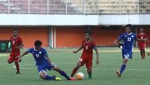 Timnas Indonesia U-19 Menang 1-0 atas Deltras Sidoarjo