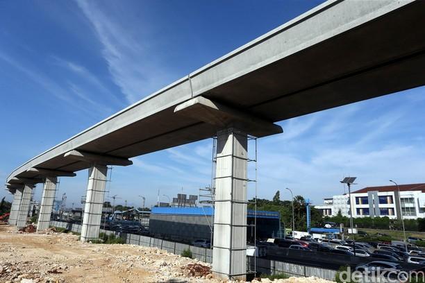 Mengintip Kondisi Terkini Proyek LRT Jabodebek