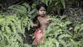 Sehari-hari Orang Rimba harus hidup di tengah konflik dengan perusahaan perkebunan dan susahnya mencari makan. (AFP PHOTO / GOH CHAI HIN)
