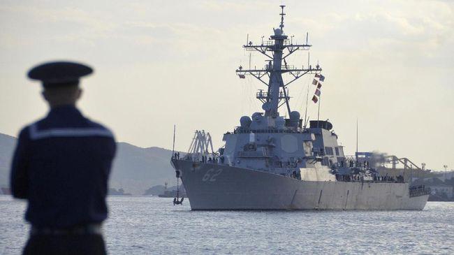 Kapal Perang AS Lintasi Lagi Selat Taiwan