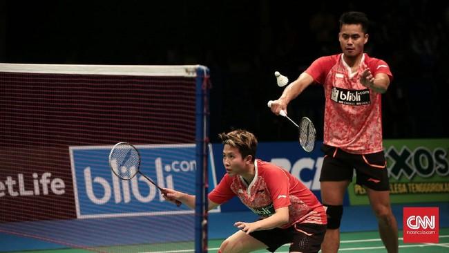 <p>Tontowi Ahmad dan Liliyana Natsir menjadi satu-satunya wakil Indonesia di babak final pada laga yang berlangsung di Jakarta Convention Center, Jakarta, Minggu (18/6). (CNN Indonesia/Andry Novelino)</p>
