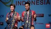<p>Keberhasilan Tontowi Ahmad/Liliyana Natsir menjadi juara Indonesia Terbuka 2017 membuat pasangan peraih medali emas Olimpiade 2016 itu merebut gelar bergengsi pertamanya tahun ini. (CNN Indonesia/Andry Novelino)</p>