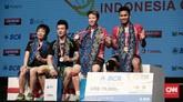 <p>Sebagai pemenang Indonesia Terbuka 2017, Tontowi Ahmad/Liliyana Natsir berhak atas uang hadiah 79 ribu dolar AS. (CNN Indonesia/Andry Novelino)</p>