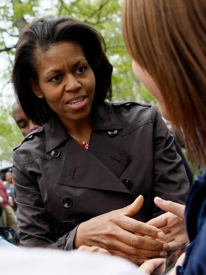 Foto: Bukti Michelle Obama Nyaman Tampil Tanpa Makeup di Depan Publik 1
