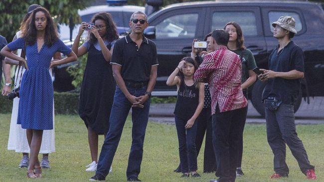Obama dan Rombongan Tiba di Rumah Bos Grup Emtek