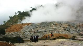 Dieng Aman Dikunjungi Pasca Letusan di Kawah Sileri