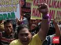 Sopir GrabCar Turun ke Jalan Tuntut Keadilan