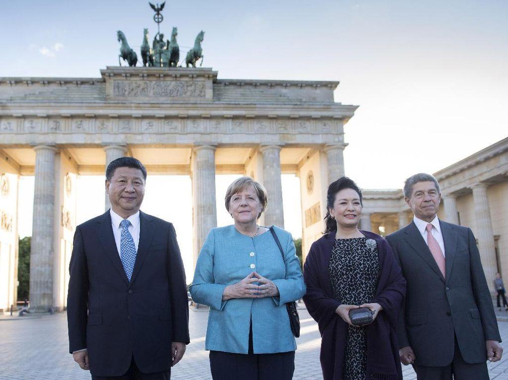 Foto: Ibu Negara China Saingi Gaya Stylish Melania Trump di KTT G20
