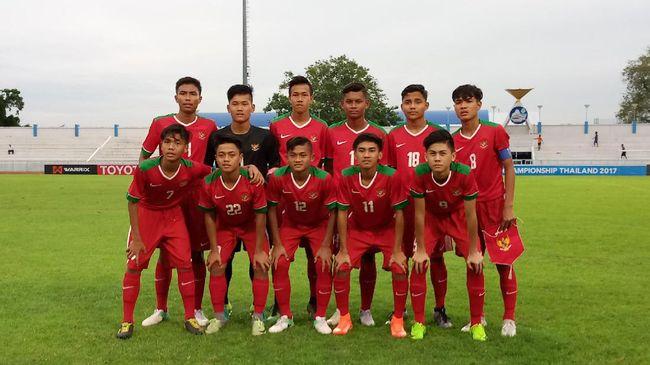 Susunan Pemain Timnas Indonesia U16 vs Jepang
