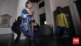 Perancis juga punya boneka raksasa seperti ogoh-ogoh yang biasa dibakar saat perayaan Nyepi, atau ondel-ondel yang menjadi ciri khas budaya Betawi dan Jakarta. Namun, rupa boneka itu bisa bermacam-macam dan tujuannya untuk menghibur. (CNN Indonesia/Hesti Rika)