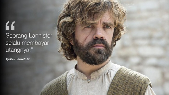 Perkataan ikonis Tyrion Lannister. (Dok. HBO)