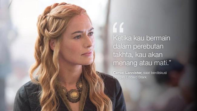 <p>Cersei Lannister, saat berdiskusi dengan Eddard Stark. (Dok. HBO)</p>