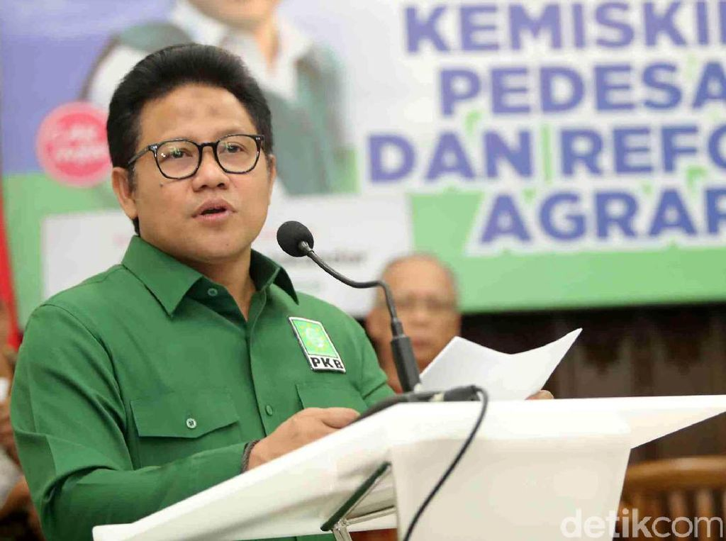 Ketum PKB Muhaimin Iskandar memberikan sambutan saat digelarnya diskusi bertajuk Kemiskinan Pedesaaan dan Reforma Agraria yang berlangsung di DPP PKB, Jakarta, Senin (17/07/2017).