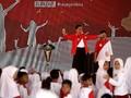 Polisi Cilik Sambut Jokowi di Hari Anak Nasional 2017