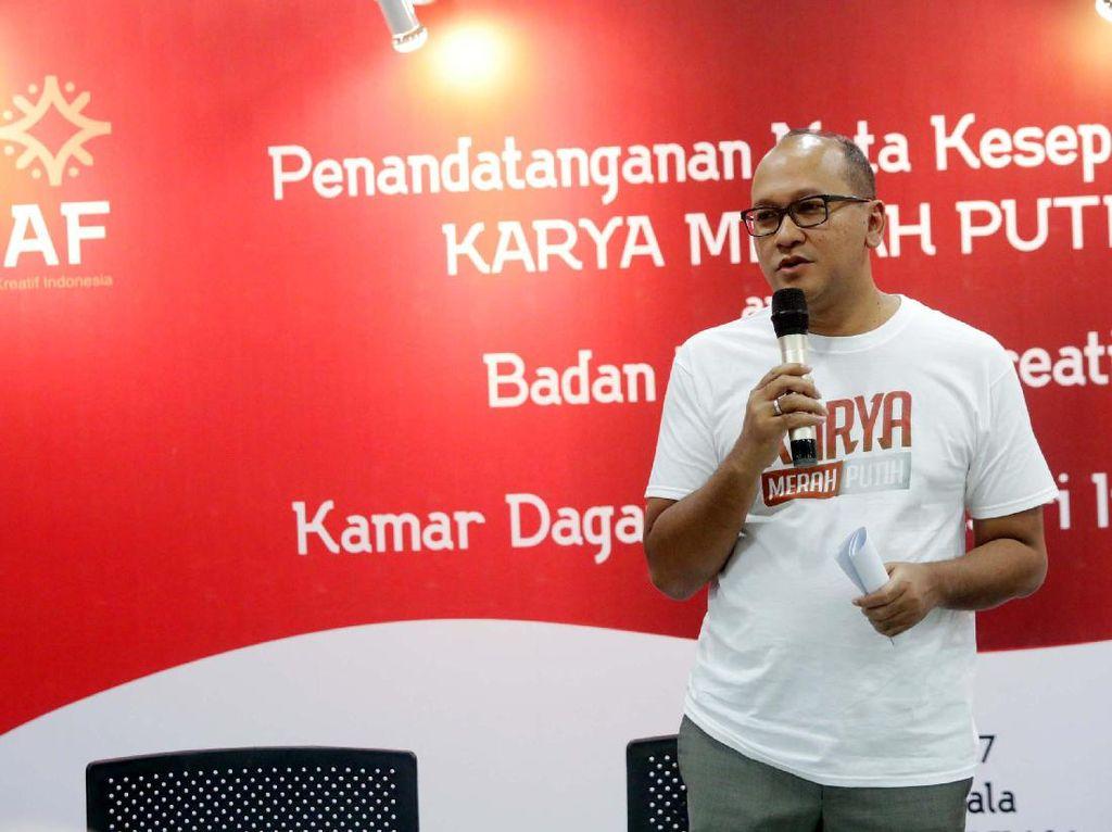 Ketua Umum Kadin Indonesia Rosan Roeslani memberikan sambutan. Pool/Kadin.