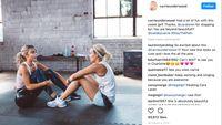 WHO merekomendasikan aktivitas fisik minimal 30 menit sehari, minimal dalam 5 hari dalam sepekan. (Foto: instagram @carrieunderwood)