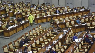 248 Anggota DPR Absen dari Rapat Paripurna Bahas Omnibus Law