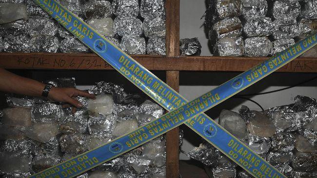 BNN Gagalkan Penyelundupan 40 Kg Sabu dari Malaysia