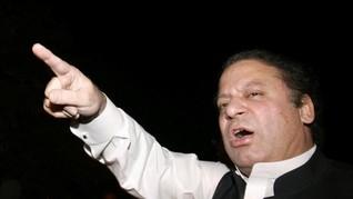Hendak Pidato, Eks PM Pakistan Nawaz Sharif Dilempar Sepatu