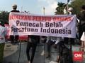 Ratusan Aparat Kawal Alumni 212 Demo Perppu Ormas di DPR