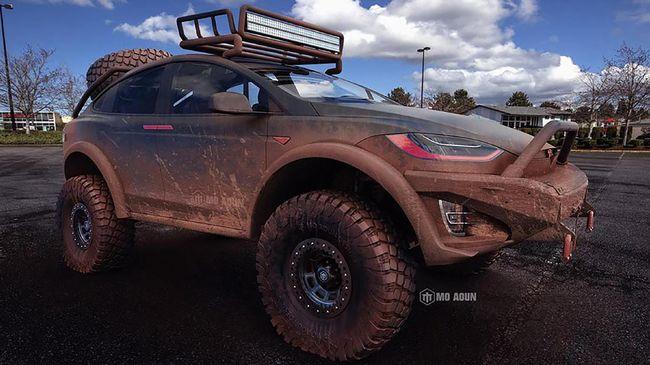 Konsep Liar Mobil Listrik Tesla Model X Pick Up