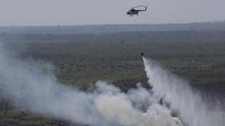 Jalur Pendakian Gunung Arjuno Terbakar, Helikopter Dikerahkan
