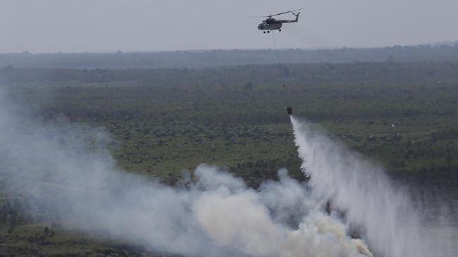 Kabut Asap di Palembang Menebal, Heli Riau Dikirim ke Sumsel
