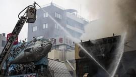 Pasar Ikan Terbesar di Tokyo Hangus Dilalap Api