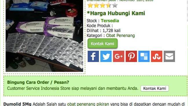 Waduh, Obat Keras Dumolid Banyak Dijual Online!