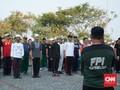 Laskar FPI Latihan Berbaris Jelang Milad Akbar ke-19
