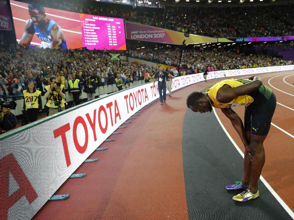 Bagi Bolt, kekalahan ini tentu menjadi akhir yang tak menyenangkan untuknya di nomor 100 meter putra. Sebab setelah kejuaraan dunia ini, Bolt akan pensiun (Foto: REUTERS/Kai Pfaffenbach)