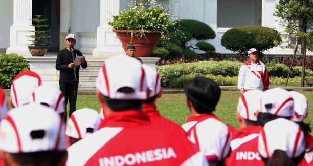 Jokowi Lepas Kontingen SEA Games 2017