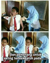 Saat ketakutan menghadapi jarum suntik, anak-anak jadi kelihatan sangat ekspresif. Foto: Facebook: Eko Bambang Visianto