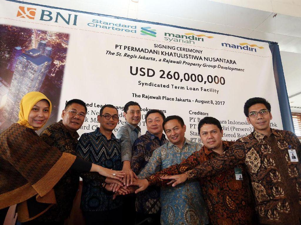 """Fasilitas kredit perbankan itu akan digunakan untuk mengembangkan proyek properti terpadu bernama """"Rajawali Place"""" di Jalan Rasuna Said, Kuningan, Jakarta Selatan."""