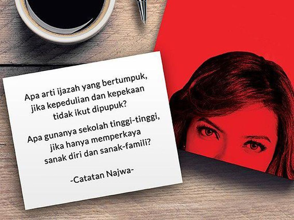 Foto: 7 Kutipan Inspiratif Najwa Shihab yang Anak Muda Perlu Tahu